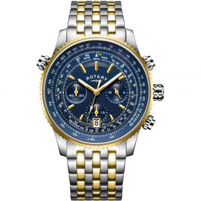 Mens Rotary Pilot Chronograph Watch GB00647/05