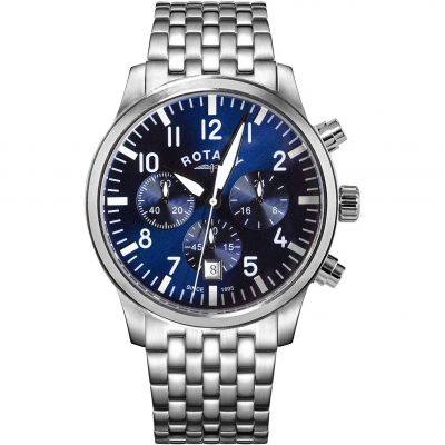 Mens Rotary Pilot Chronograph Watch GB00681/52