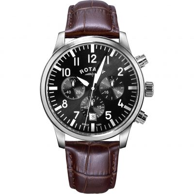 Mens Rotary Pilot Chronograph Watch GS00681/19