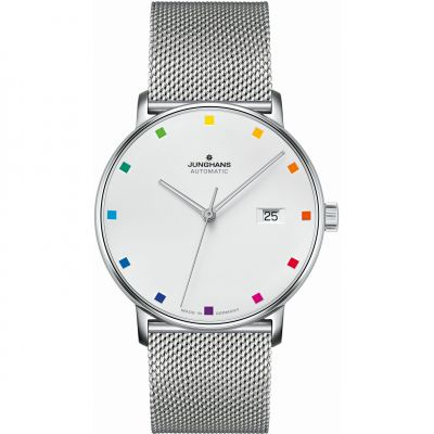 Junghans FORM A 100 Jahre Bauhaus Limited Edition Unisexklocka Silver 027/4937.44