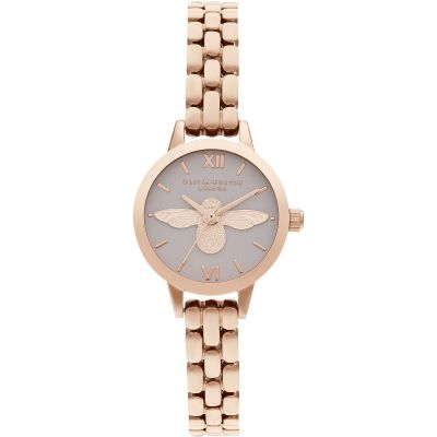 Olivia Burton 3D Bee Blush Dial & Rose Gold Damklocka OB16MC53