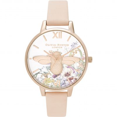 Ladies Olivia Burton 3D Bee Nude Peach & Pale Rose Gold Watch OB16EG151