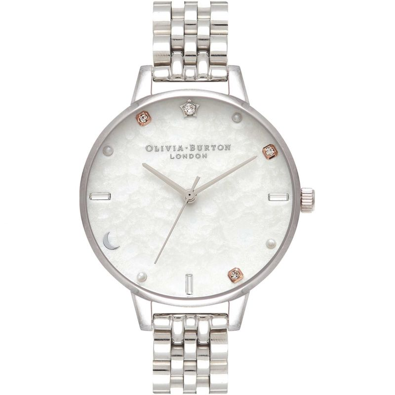 Ladies Olivia Burton Silver Bracelet Watch OB16GD30