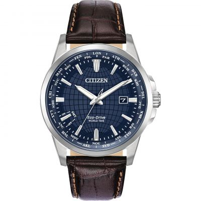 Citizen World Time Herrklocka Brun BX1000-06L