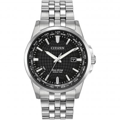 Citizen World Time Herrklocka Silver BX1000-57E