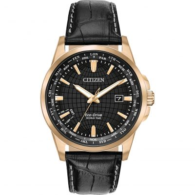 Citizen World Time Herenhorloge Zwart BX1003-08E