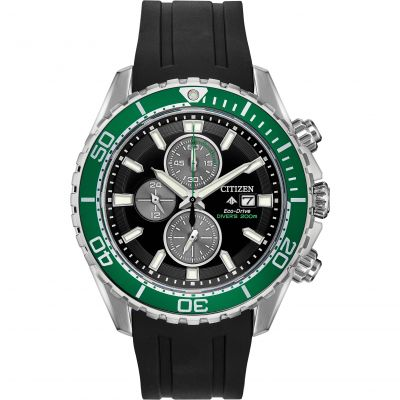 Mens Citizen Eco-drive Promaster Diver Chronograph Chronograph Stainless Steel Watch CA0715-03E