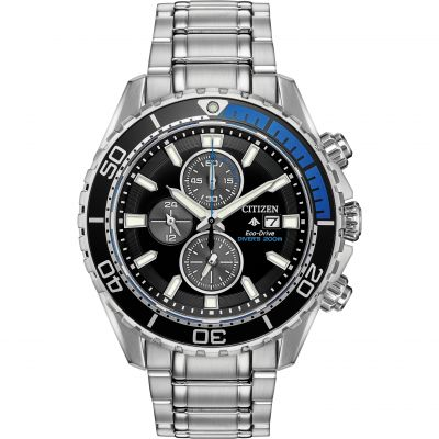 Mens Citizen Eco-drive Promaster Diver Chronograph Chronograph Stainless Steel Watch CA0719-53E