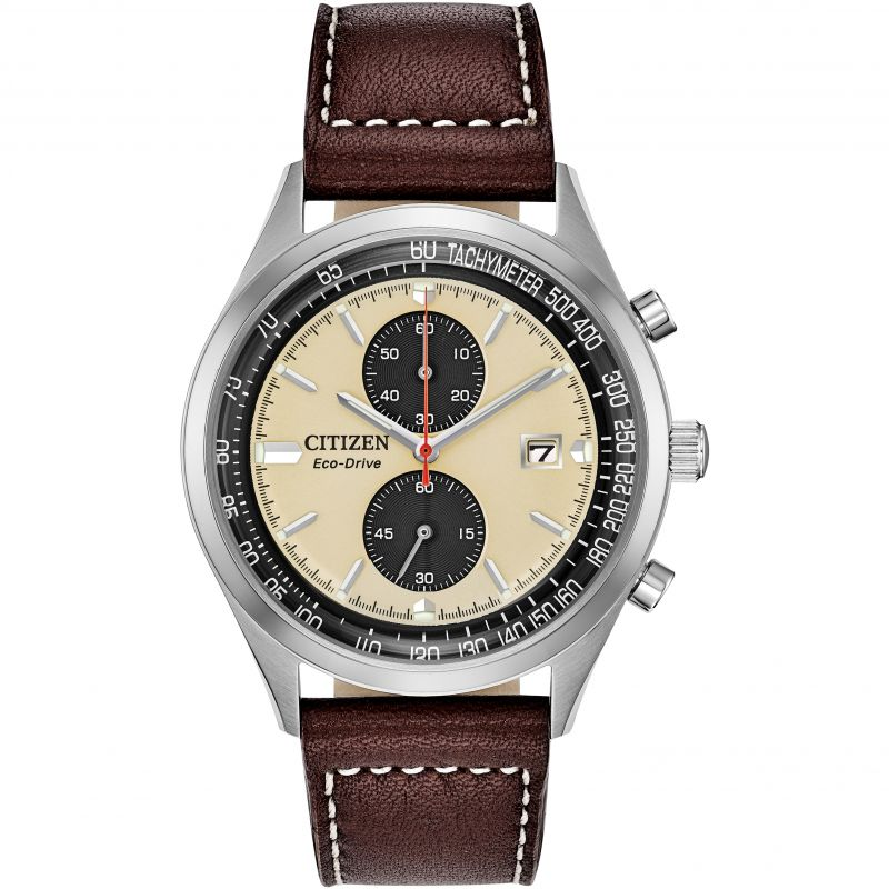 Mens Citizen Eco-drive Vintage Chronograph Chronograph Stainless Steel Watch CA7020-07A