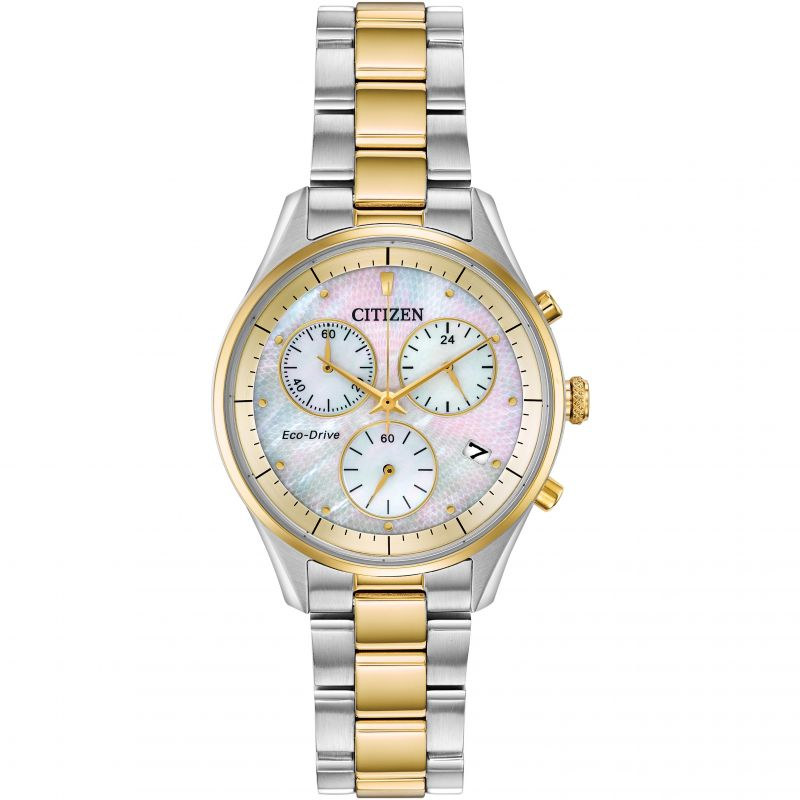 Ladies Citizen Eco-drive Ladies' Chronograph Chronograph Stainless Steel Watch FB1444-56D