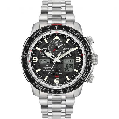 Mens Citizen Promaster Skyhawk A-T Radio Controlled Alarm Chronograph Watch JY8070-54E