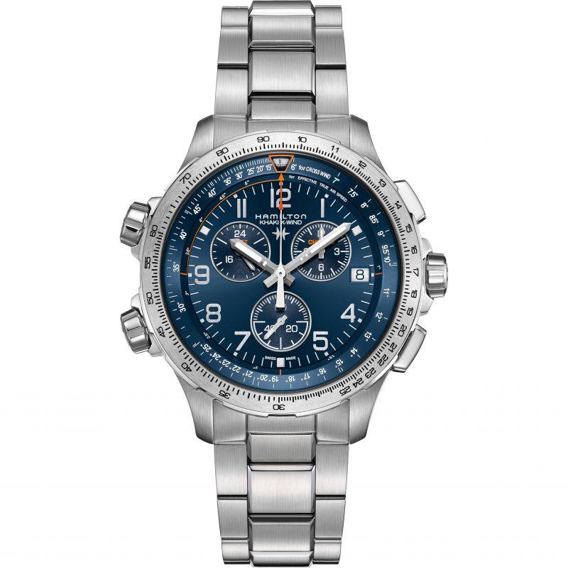 Hamilton Khaki X Wind Mens Watch H77922141 Blue Watchshop Com