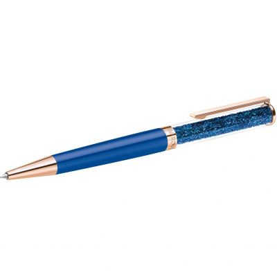 Crystalline Ballpoint Pen - Rose case and Blue