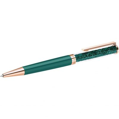 Crystalline Ballpoint Pen - Rose Case and Green