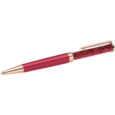 Crystalline Ballpoint Pen - Rose Case and Red