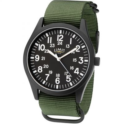 Mens Pilot Style watch Canvas Strap Watch 5723.37