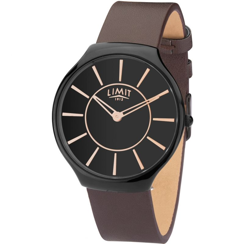 Mens Black Coloured Strap Watch 5726.37