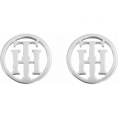 Tommy Hilfiger Stainless Steel TH Logo Stud Earrings 2780286