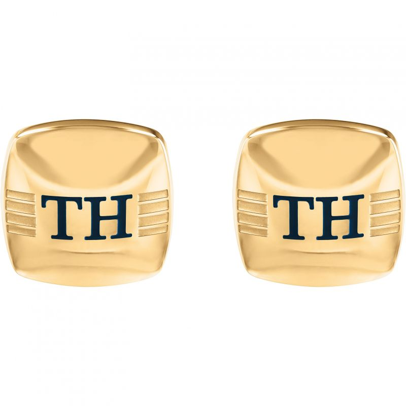 Tommy Hilfiger Stainless Steel Rounded Square Cufflinks 2790189