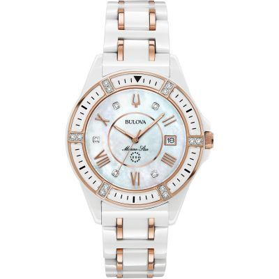 Ladies Bulova Quartz Marine Star  Watch 98R241