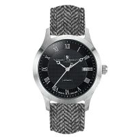 Smart Turnout Shackleton Automatic Watch With a Black Herringbone Tweed Strap