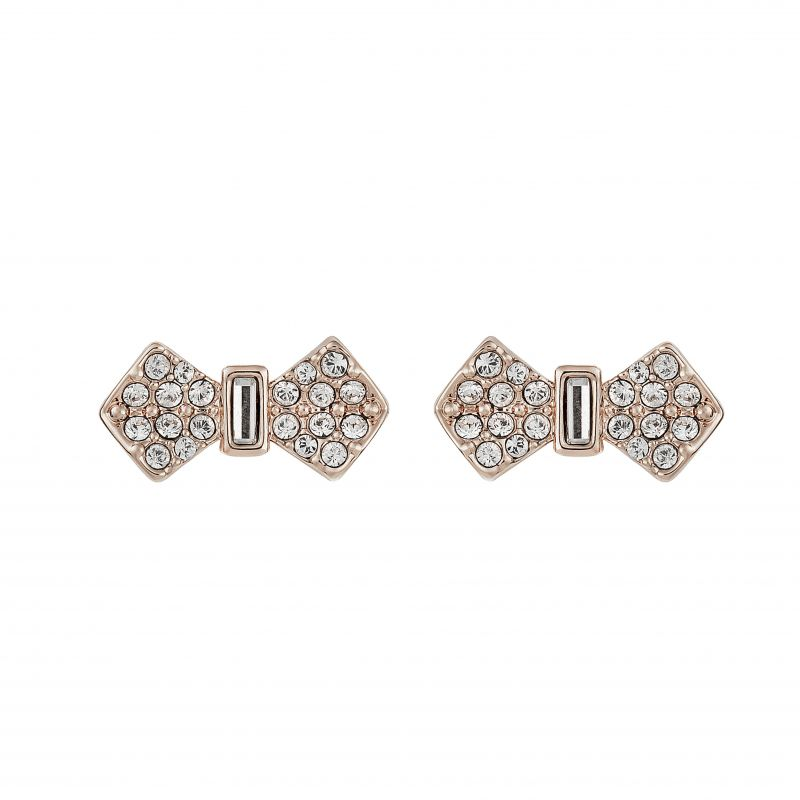 Sersi Solitaire Pave Bow Earrings TBJ2179-24-02