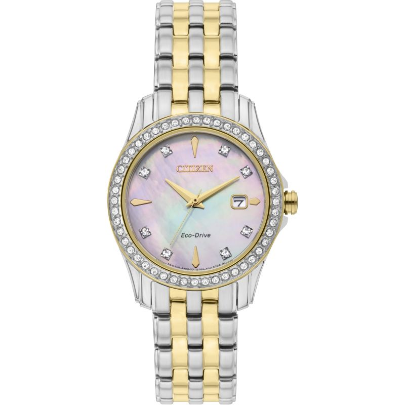 Ladies Citizen Eco-drive Silhouette Stainless Steel Watch EW1908-59D