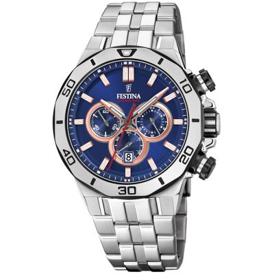Festina Chrono Bike 2019 Collection Herrkronograf Silver F20448/1