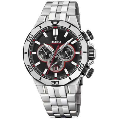 Festina Chrono Bike 2019 Collection Herrkronograf Silver F20448/4