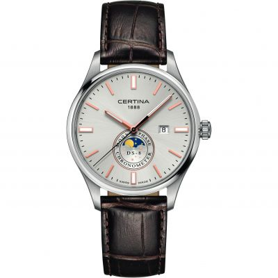 Certina DS-8 Moonphase Gents Herrklocka Brun C0334571603100