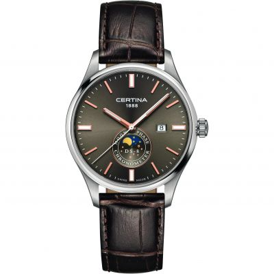 Certina DS-8 Moonphase Gents Herrklocka Brun C0334571608100