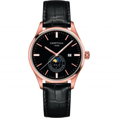 Certina DS-8 Moonphase Gents Herrklocka Svart C0334573605100