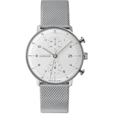 Mens Junghans Max Bill Chronoscope Automatic Chronograph Watch 027/4003.44