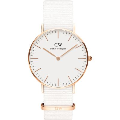 Unisex Daniel Wellington Classic 36 Dover RG White Watch DW00100309
