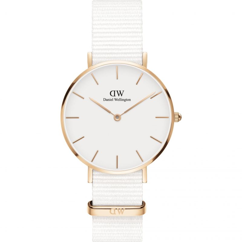 Ladies Daniel Wellington Petite 32 Dover RG White Watch DW00100311