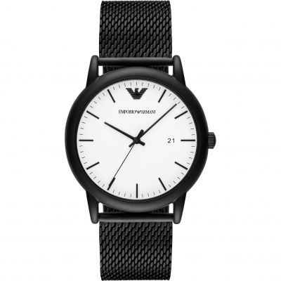 Emporio Armani Fashion Luigi Herrenuhr in Schwarz AR11046