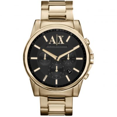 Armani Exchange Outerbanks Herenhorloge Goud AX2095