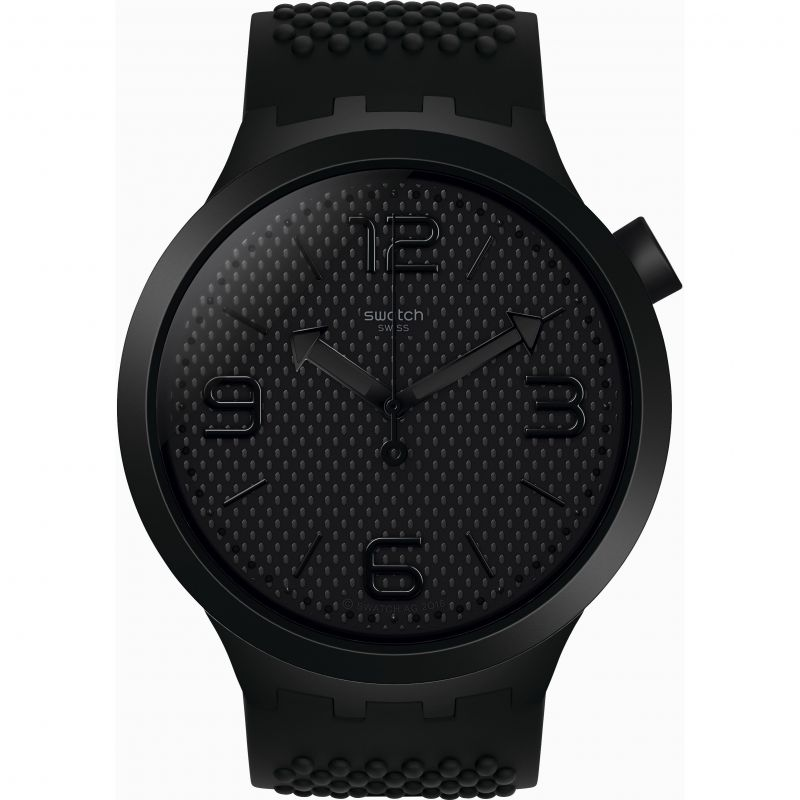 Mens Swatch Bbblack Watch SO27B100