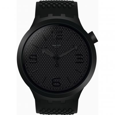 Swatch SS19 Big Bold Bbblack Herrenuhr in Schwarz SO27B100