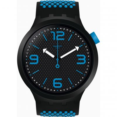 Swatch SS19 Big Bold Bbblue Herrenuhr in Zweifarbig SO27B101