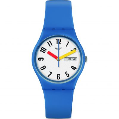 Swatch Original Gent Sobleu Unisexuhr in Blau GS703