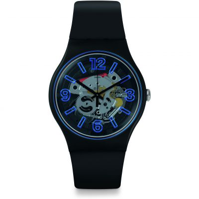 Swatch Bau Swatch Blueboost Herrenuhr in Schwarz SUOB165