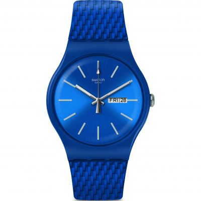 Swatch Bau Swatch Bricablue Herrenuhr in Blau SUON711