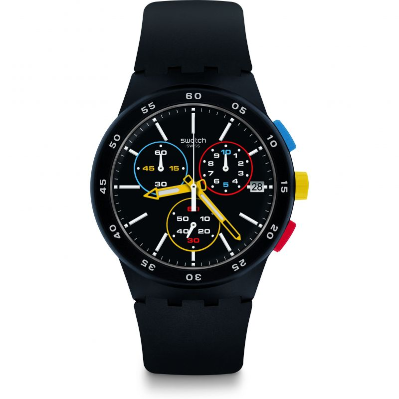 Mens Swatch Black-One Watch SUSB416