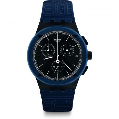 Swatch X-District Blue Herenhorloge Blauw SUSB418