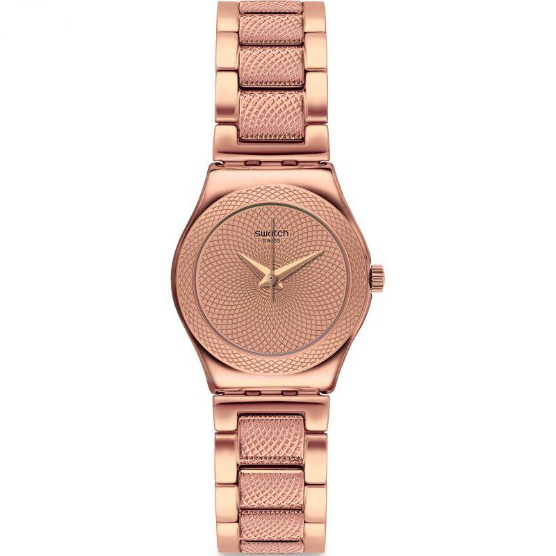 Ladies Swatch Full Rose Watch