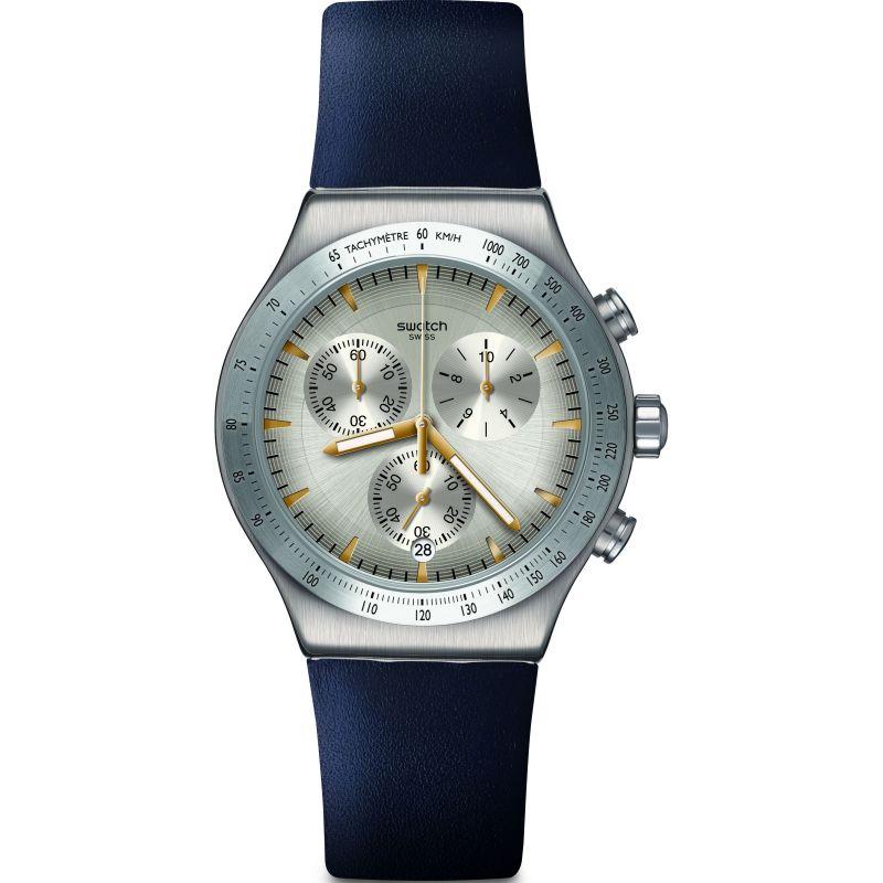 Mens Swatch Darkmeblue Watch