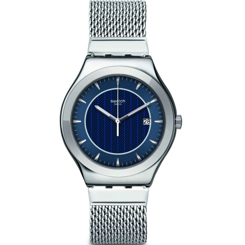 Mens Swatch Blue Icone Watch