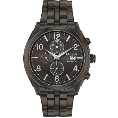 Mens Citizen Eco-drive Gents Eco-Drive Chrono Chronograph Stainless Steel Watch CA0675-57E