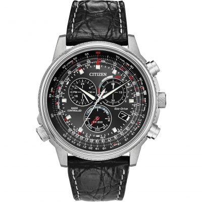 Mens  Eco-drive Gents Eco-Drive Chrono A.T Ltd Ed Alarm Chronograph Stainless Steel Watch